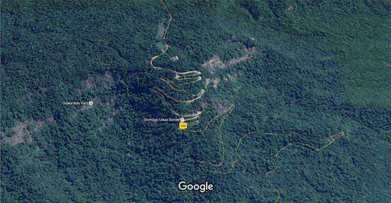 Agumbe satellite view